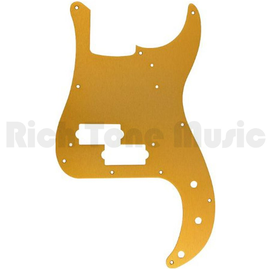 Fender Pickguard, 57 Precision Bass, 10 Hole, 1-Ply,Gold Anodized