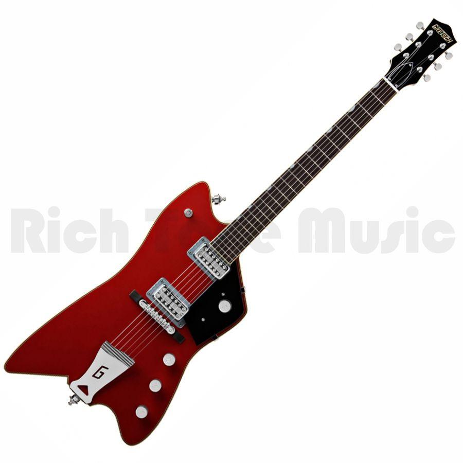 Gretsch G6199 Billy Bo Jupiter Thunderbird Black With Firebird Red