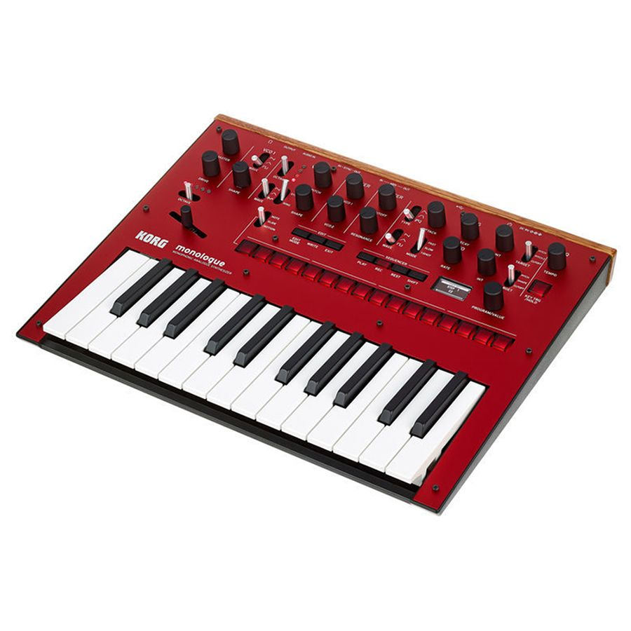 korg monologue monophonic analog synthesizer red rich tone music. Black Bedroom Furniture Sets. Home Design Ideas