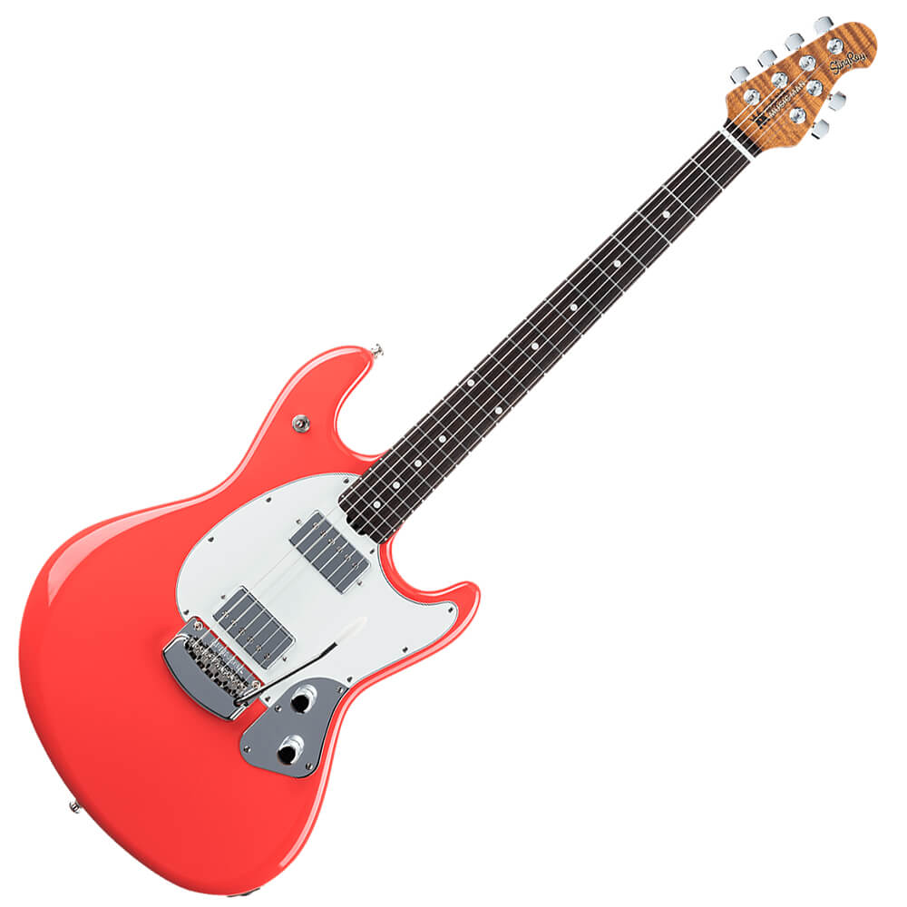 Music Man Stingray Rs Rw Coral Red Rich Tone Music