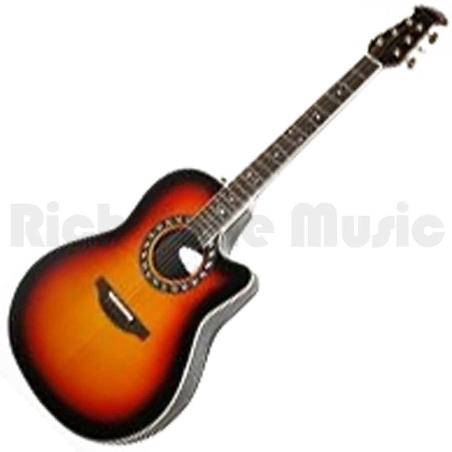 ovation 1777ax 1 sunburst mid bowl acoustic guitar rich tone music. Black Bedroom Furniture Sets. Home Design Ideas