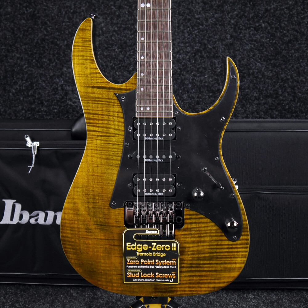 Ibanez RG Premium RG950WFMZ Electric Guitar - Tiger Eye w/Soft Case - Ex  Demo