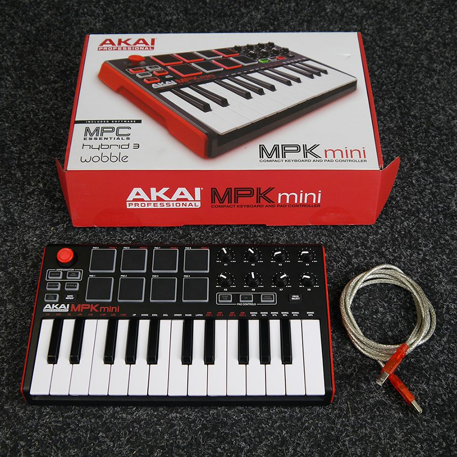 Akai MPK Mini Keyboard and Pad Controller w/ Box - 2nd Hand