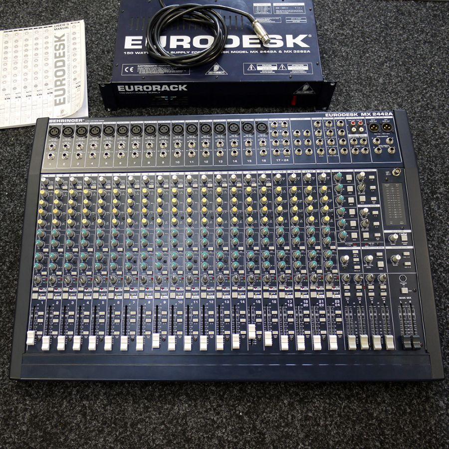 Behringer Eurodesk Mx2442a : behringer mx2442a eurodesk analog mixer w eurorack psu 2nd hand rich tone music ~ Russianpoet.info Haus und Dekorationen