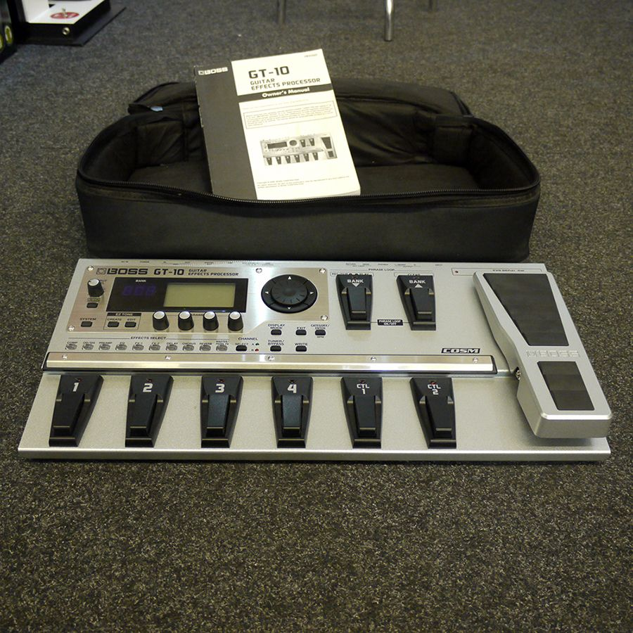 boss gt 10 guitar effects processor w bag psu manual 2nd hand rh richtonemusic co uk yamaha gt 10 manual boss gt 10 manual mode