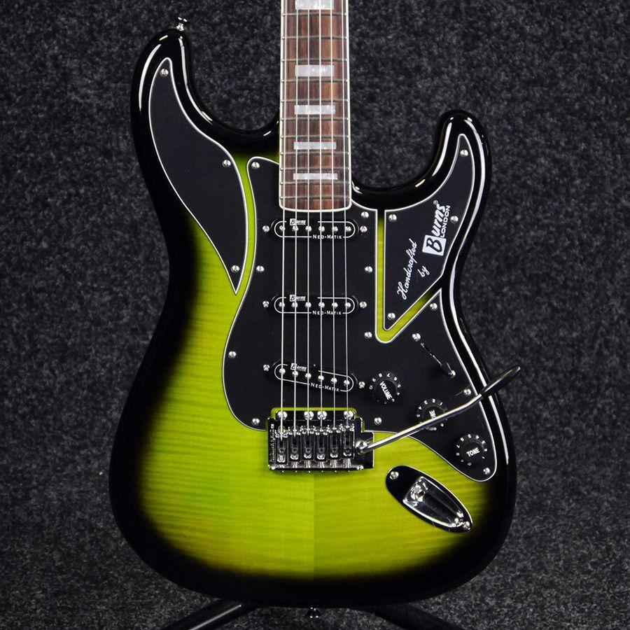 Burns King Cobra Electric Guitar Greenburst 2nd Hand