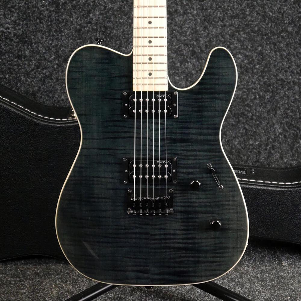 b52283d1194 Dean NashVegas Flame Hum Hum - Trans Black w/Hard Case - 2nd Hand | Rich  Tone Music