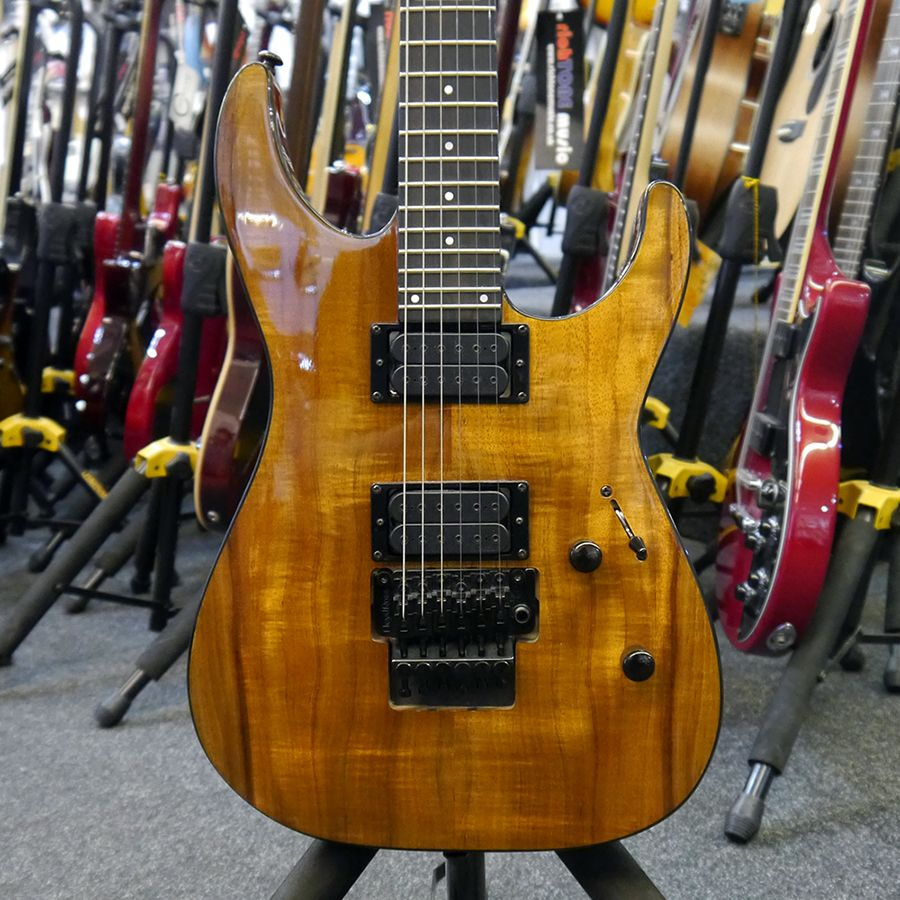 esp ltd m 1000 koa deluxe electric guitar 2nd hand rich tone music. Black Bedroom Furniture Sets. Home Design Ideas
