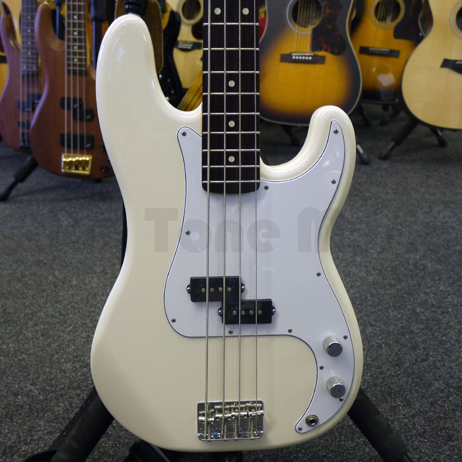 Fender Artic White Precision Bass Guitar 2nd Hand Rich Tone Music Accurate Control