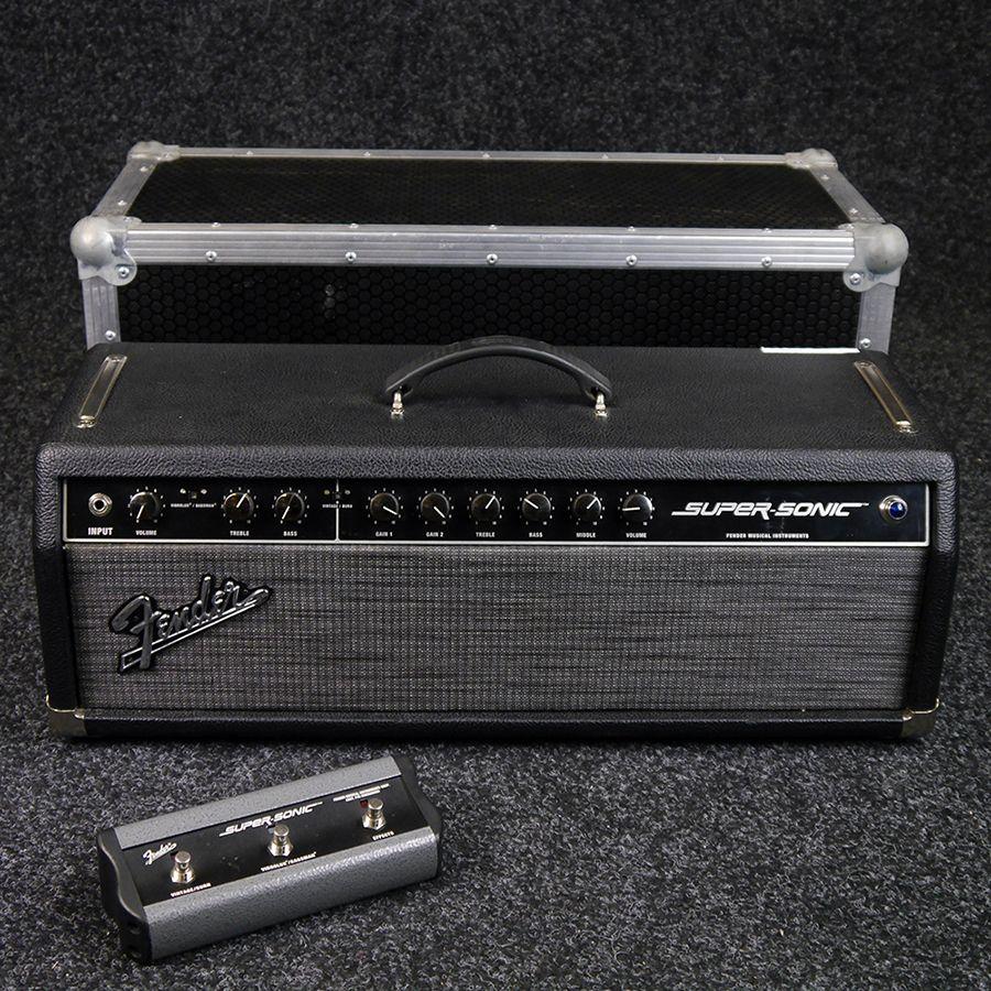 10f7edb0cb Fender Super-Sonic 60 Amp Head in Flight Case w/ Footswitch - 2nd Hand |  Rich Tone Music