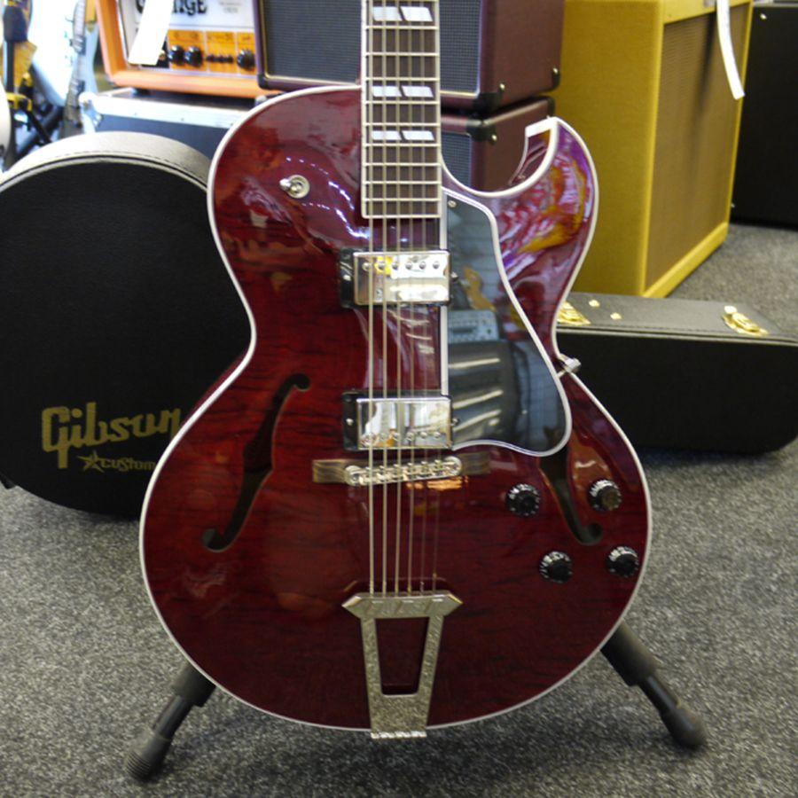 Gibson Es175 Custom Shop Flame Wine Red Hard Case 2nd