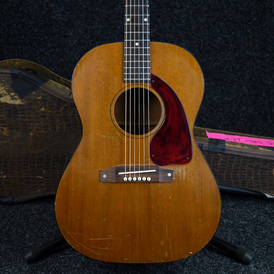 gibson lg 0 early 60s acoustic guitar w case 2nd hand rich tone music. Black Bedroom Furniture Sets. Home Design Ideas