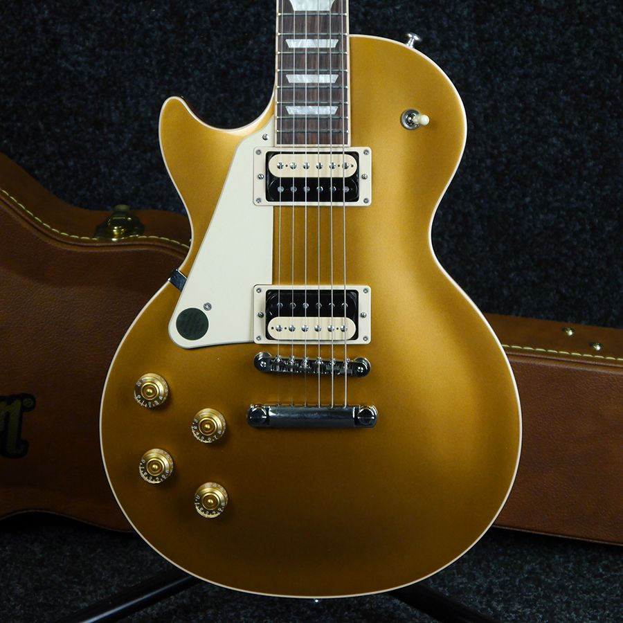 gibson les paul classic 2013 left handed goldtop w case 2nd hand rich tone music. Black Bedroom Furniture Sets. Home Design Ideas