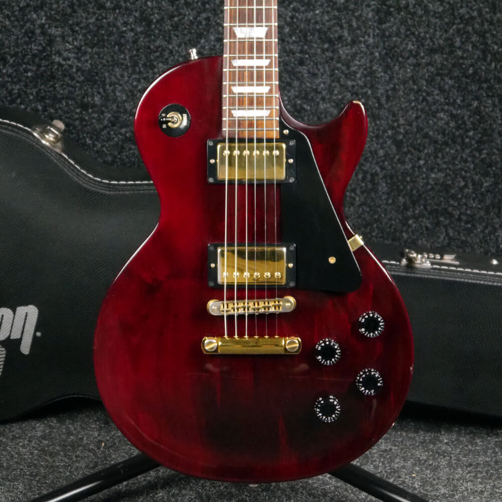 Gibson Les Paul Studio Wine Red W Hard Case 2nd Hand Rich Tone Music