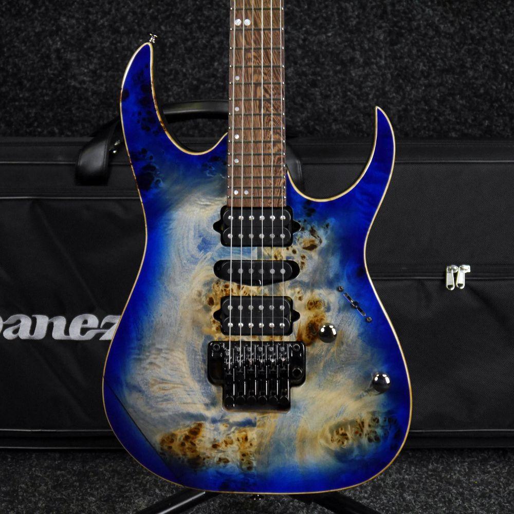 Ibanez RG Premium RG1070PBZ - Cerulean Blue Burst w/ Case - 2nd Hand