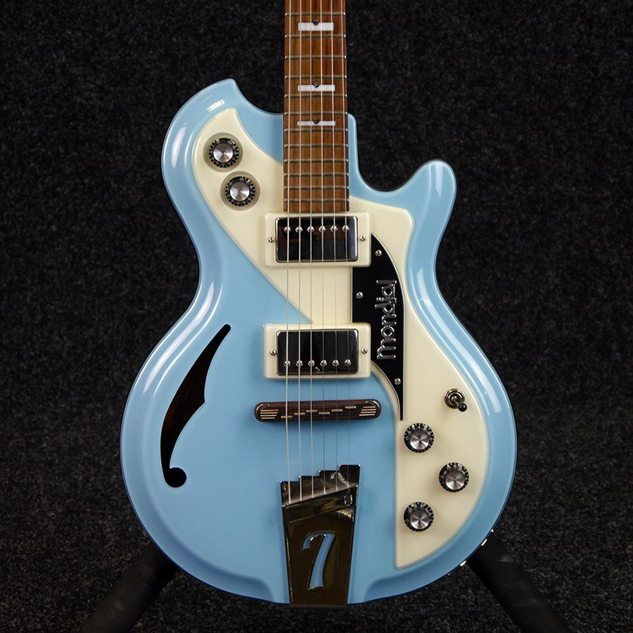 italia mondial classic semi hollow electric guitar powder blue 2nd hand rich tone music. Black Bedroom Furniture Sets. Home Design Ideas
