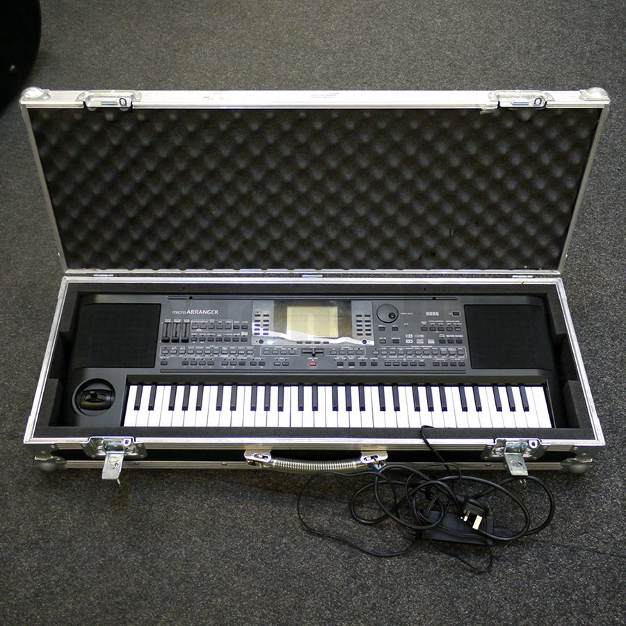 korg micro arranger keyboard w flight case 2nd hand rich tone music. Black Bedroom Furniture Sets. Home Design Ideas
