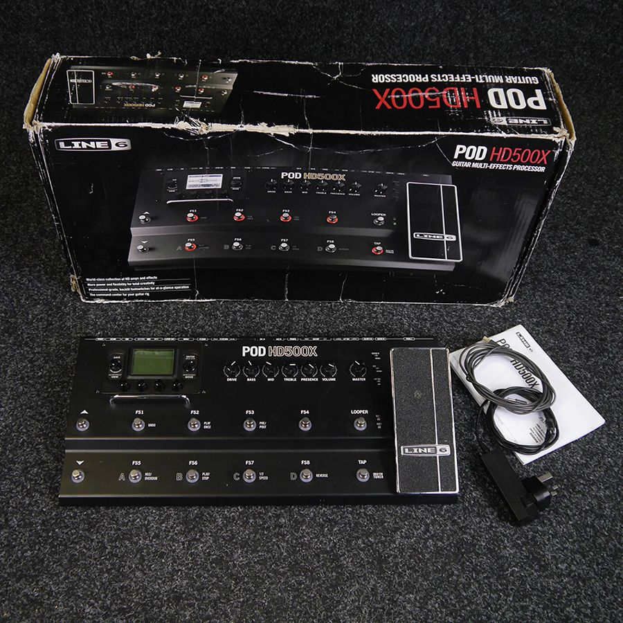 line 6 pod hd500x multi effects pedal w box 2nd hand rich tone music. Black Bedroom Furniture Sets. Home Design Ideas