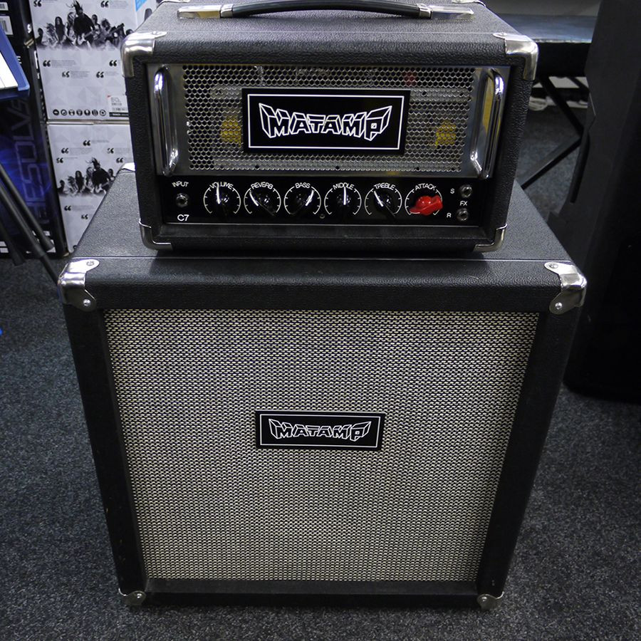 matamp c7 amp head 1x12 cab amplifier 2nd hand rich tone music. Black Bedroom Furniture Sets. Home Design Ideas
