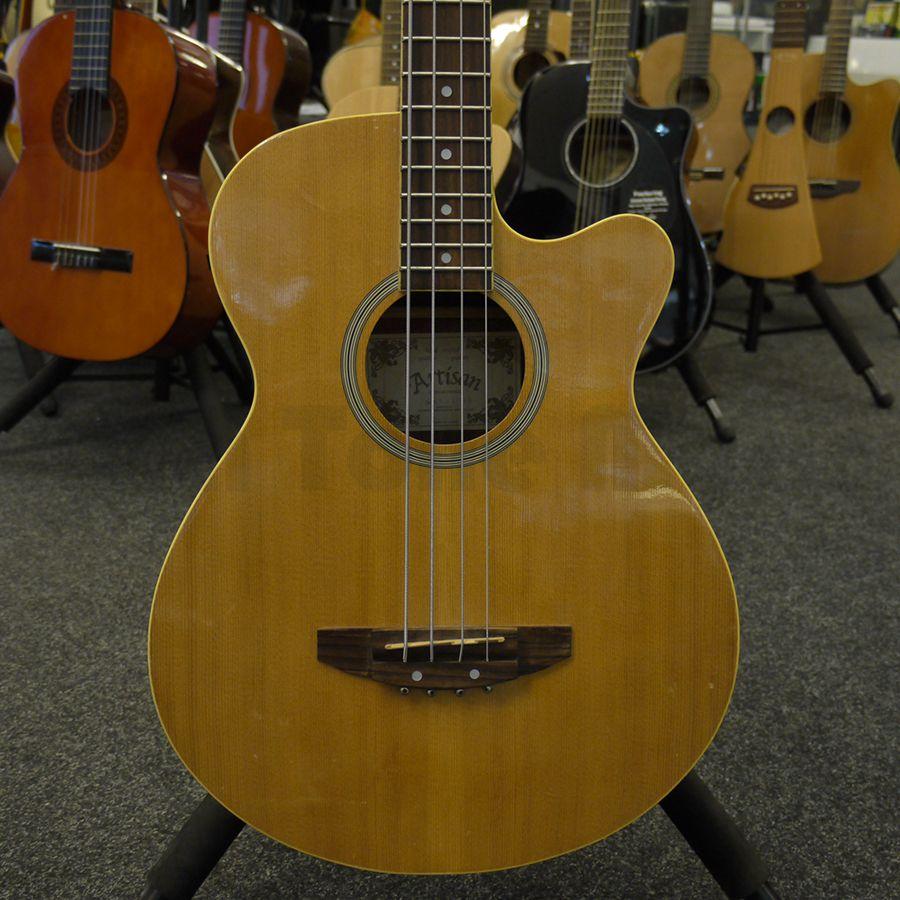 Artisan Short Scale Acoustic Bass Bass Guitar 2nd Hand Rich Tone
