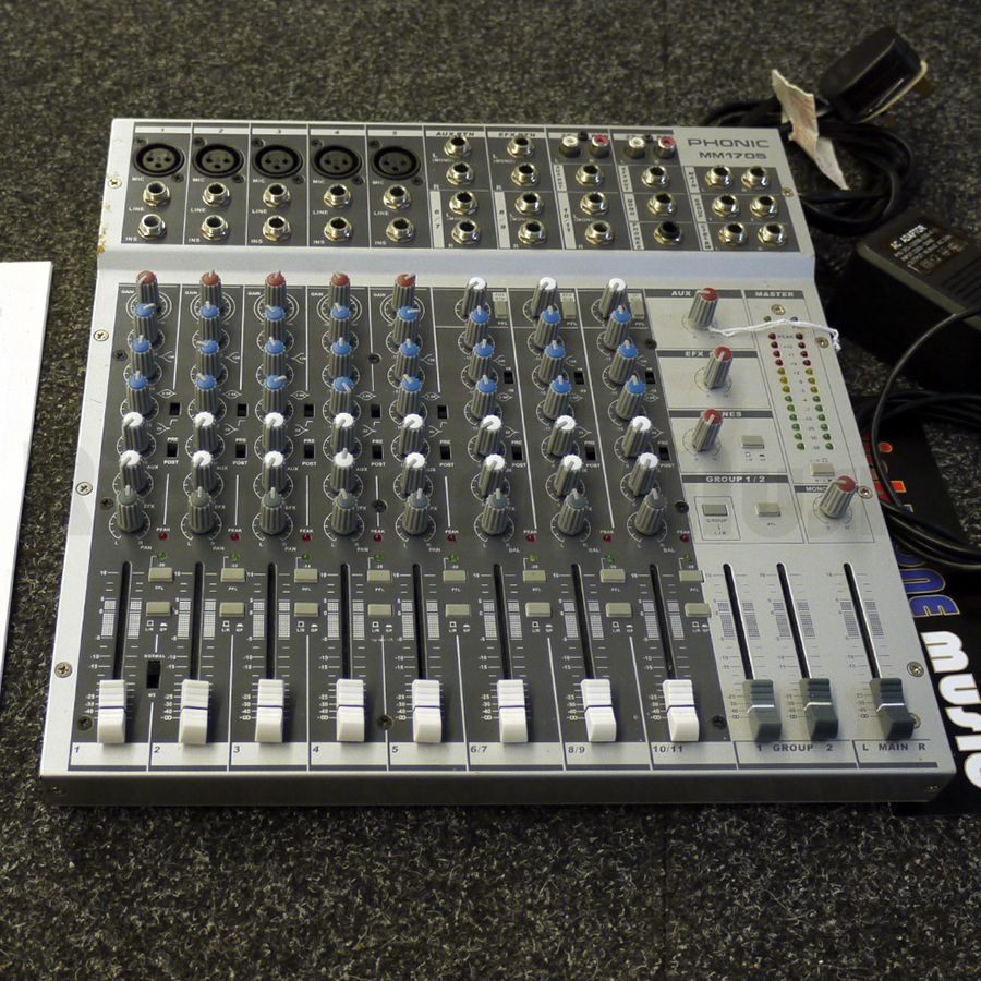 Phonic MM1705 Mixing Desk   2nd Hand