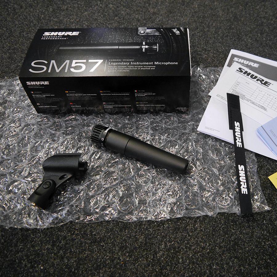 Shure Sm57 Dynamic Instrument Microphone W Box 2nd Hand Rich Mic Instrumen
