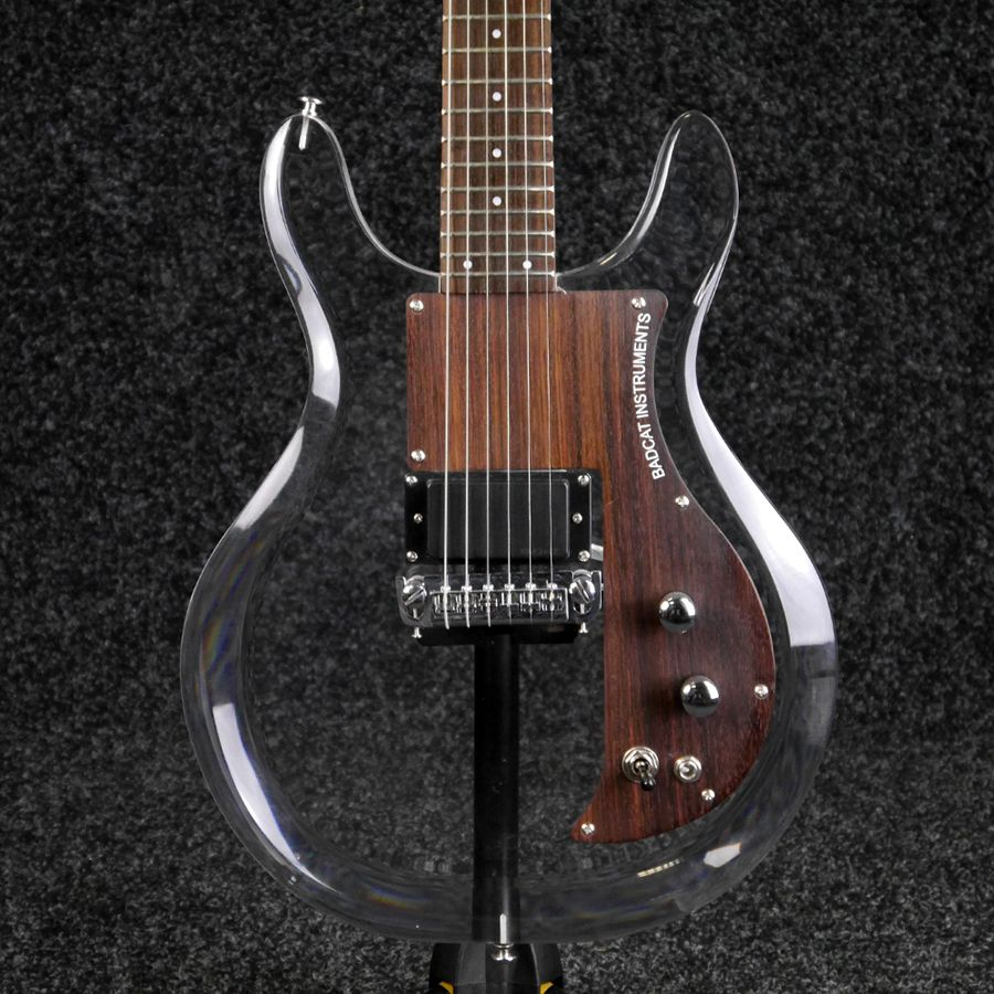 bad cat custom acrylic see thru electric guitar w case 2nd hand rich tone music. Black Bedroom Furniture Sets. Home Design Ideas