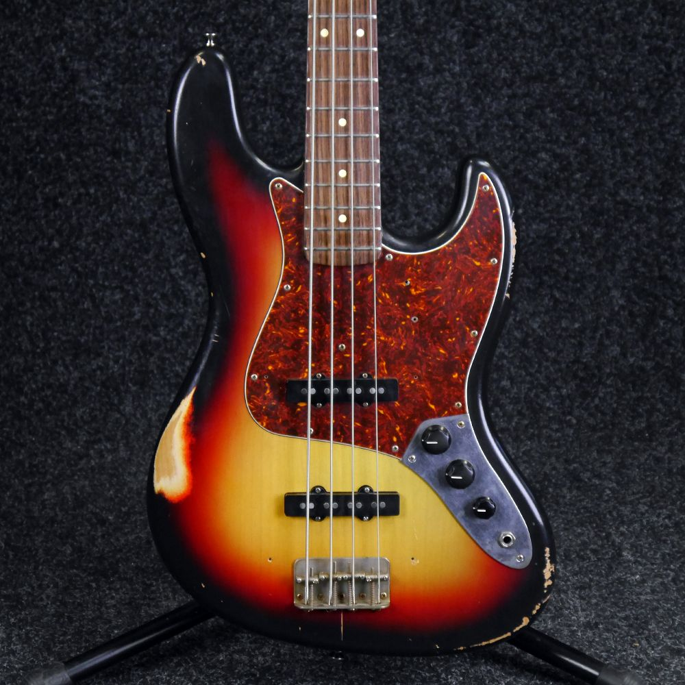 Nash Guitars JB Bass Guitar - Sunburst Relic - 2nd Hand