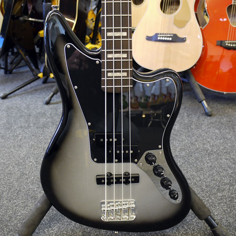 squier troy sanders signature jaguar bass - silverburst - 2nd hand