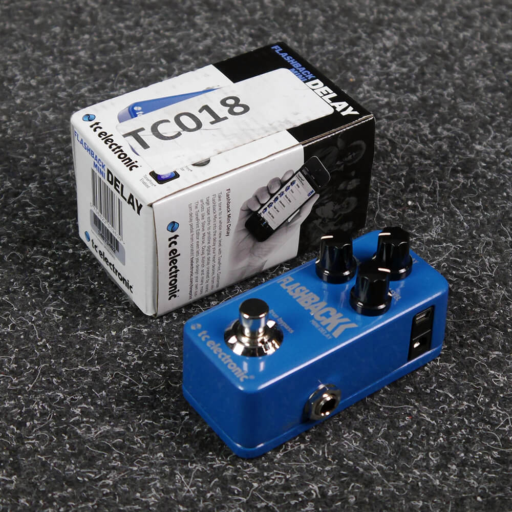 tc electronic flashback mini delay fx pedal w box 2nd hand rich tone music. Black Bedroom Furniture Sets. Home Design Ideas