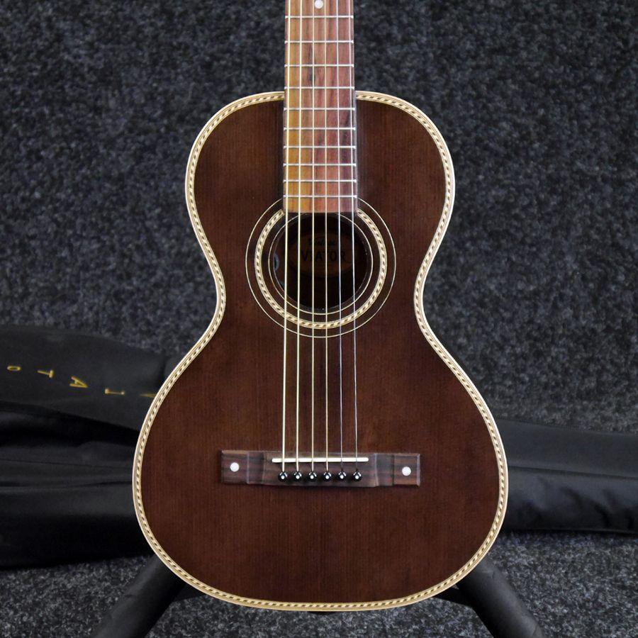 Vintage Viator Paul Brett Electro Acoustic Travel Guitar W