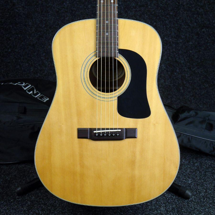 washburn d10n acoustic guitar w gig bag 2nd hand rich tone music. Black Bedroom Furniture Sets. Home Design Ideas