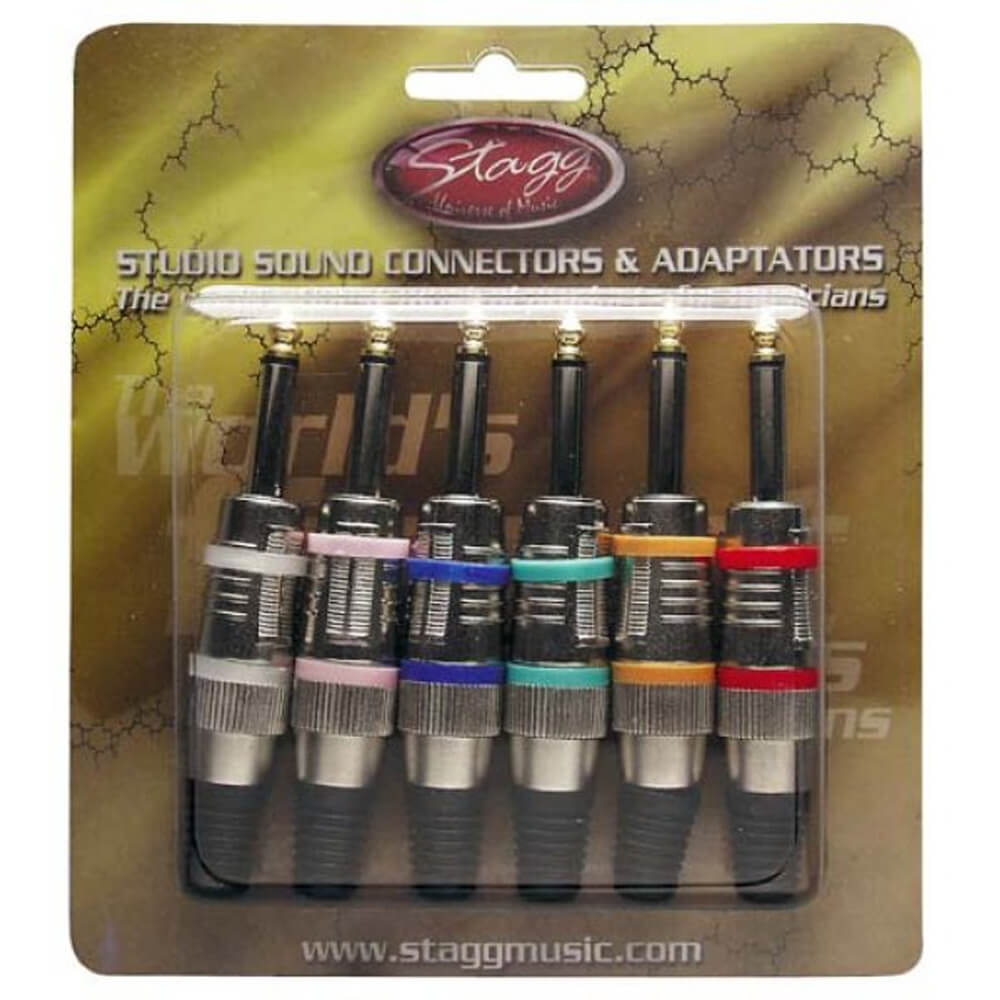 Stagg 002M6A 6X Pro Phone Plugs