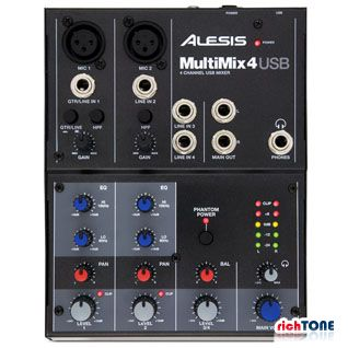 Alesis MultiMix 4 USB Four Channel USB Mixer