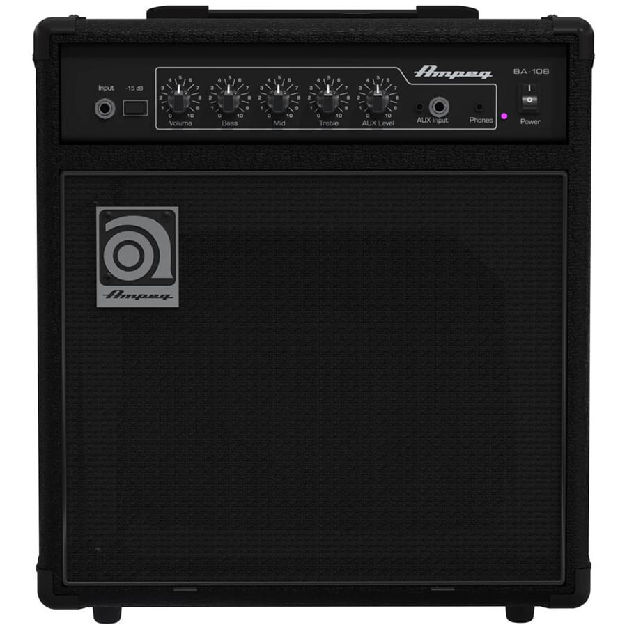 ampeg ba 108 bass guitar combo amplifier rich tone music. Black Bedroom Furniture Sets. Home Design Ideas