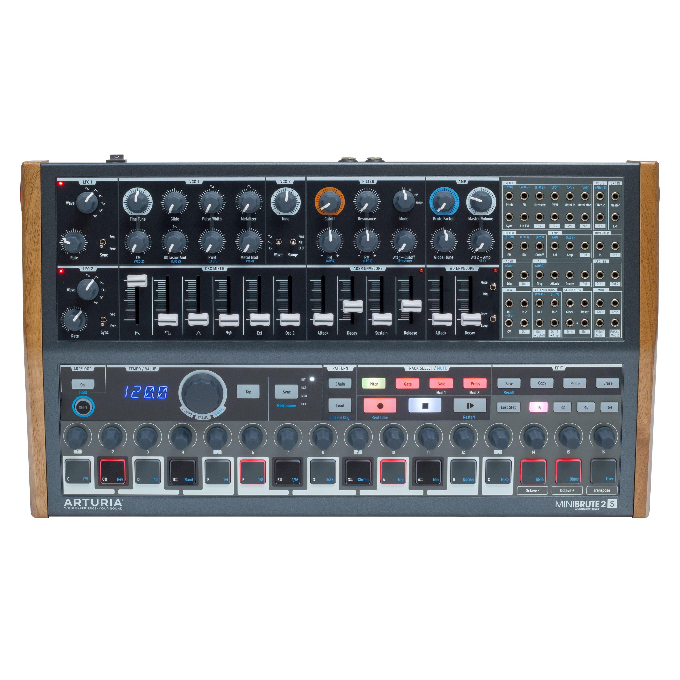 arturia minibrute 2s semi modular analog sequencing synth module rich tone music. Black Bedroom Furniture Sets. Home Design Ideas