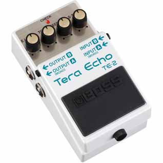 Boss TE-2 Tera Echo Adaptive Delay Effect Pedal