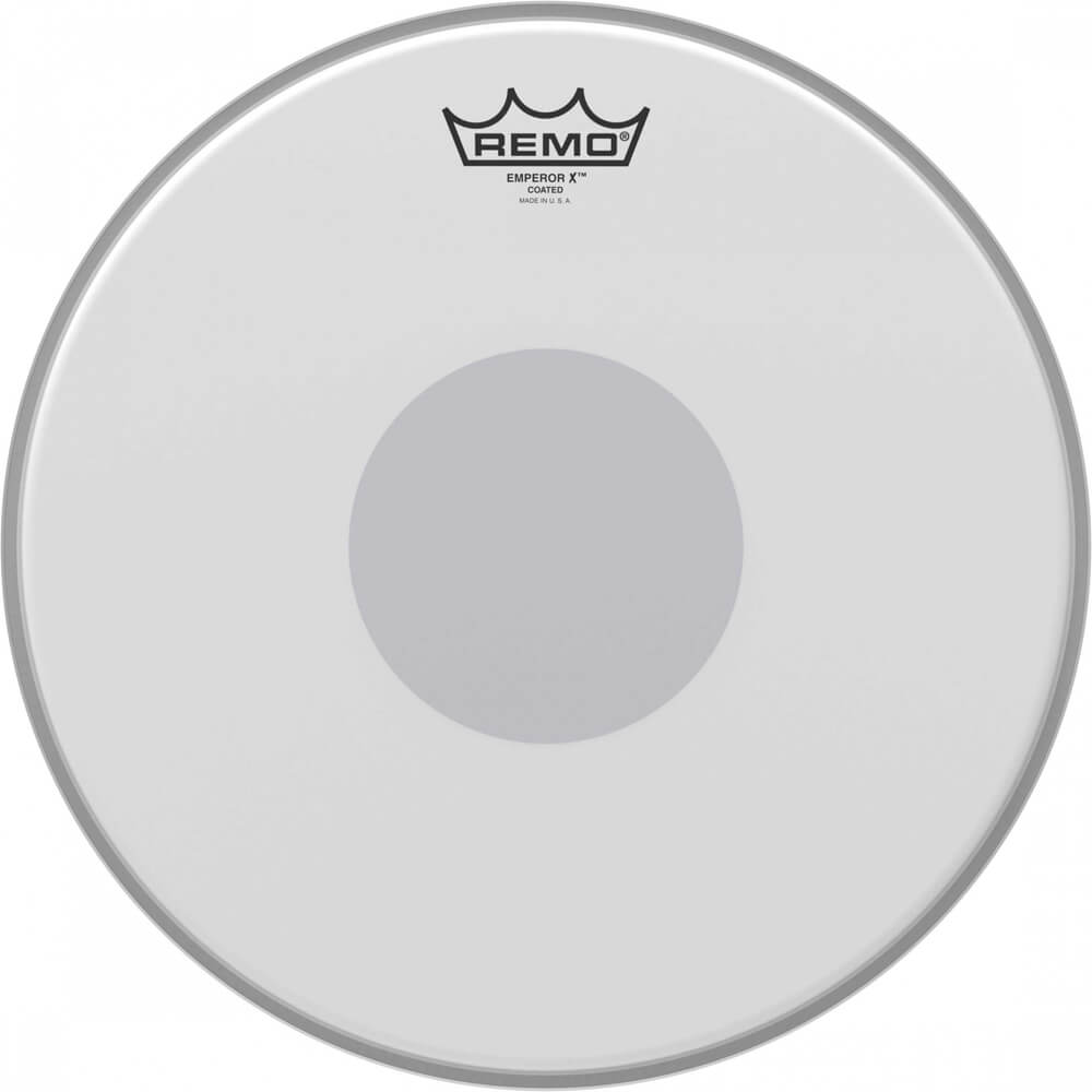 remo bx 0113 10 emperor x coated drum head bottom black dot 13 rich tone music. Black Bedroom Furniture Sets. Home Design Ideas