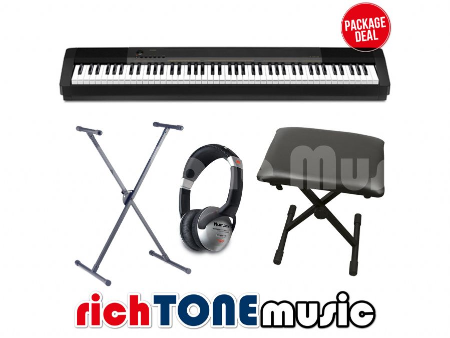 casio cdp 130 compact digital piano package rich tone music. Black Bedroom Furniture Sets. Home Design Ideas