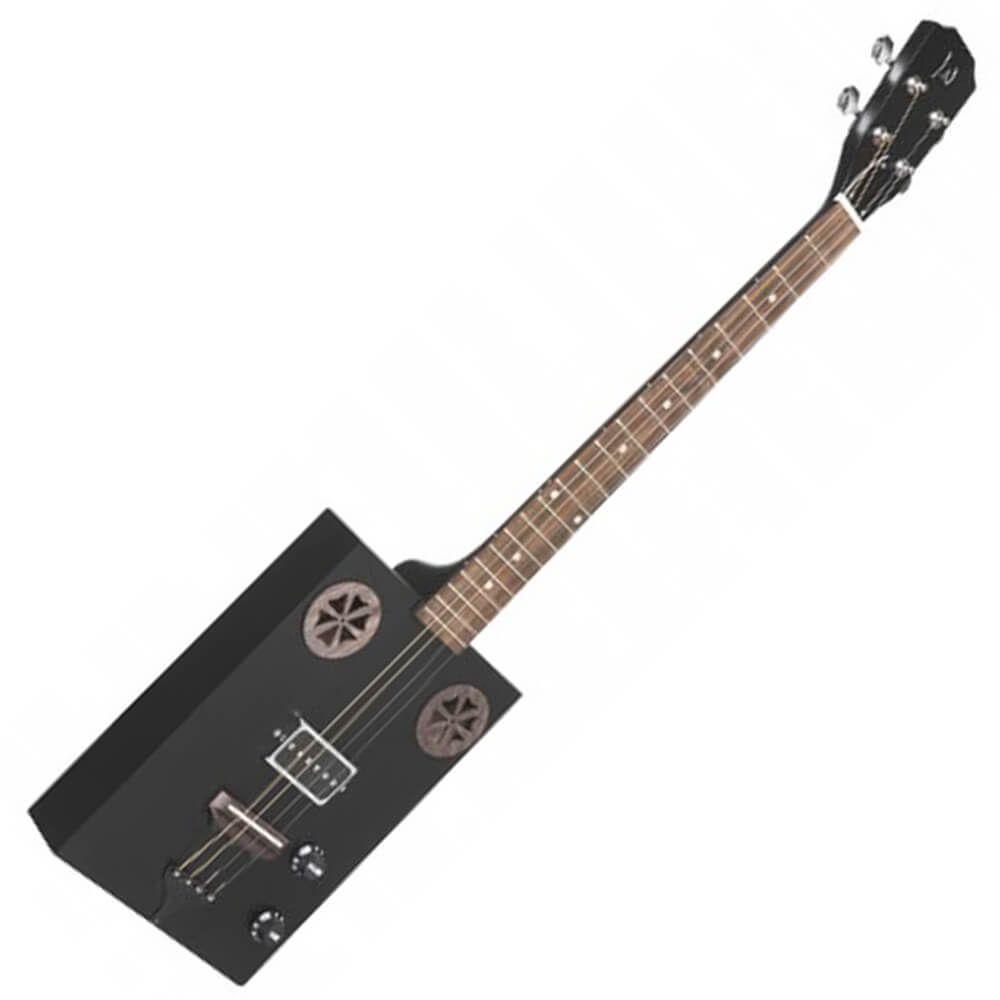James Neligan CASK-HOGSCOAL Electric Cigar Box Guitar - Cask Coal