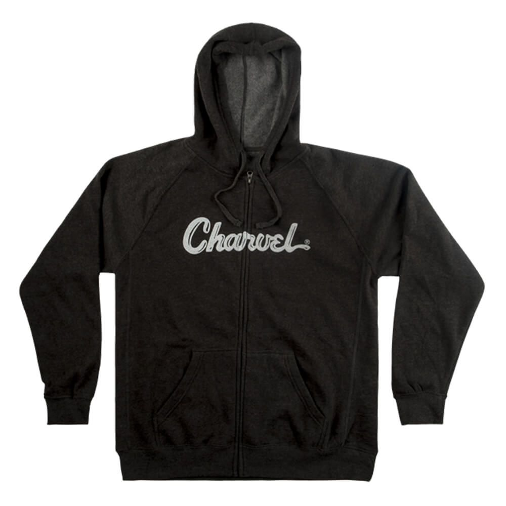 Charvel Logo Hoodie, Charcoal - XXL