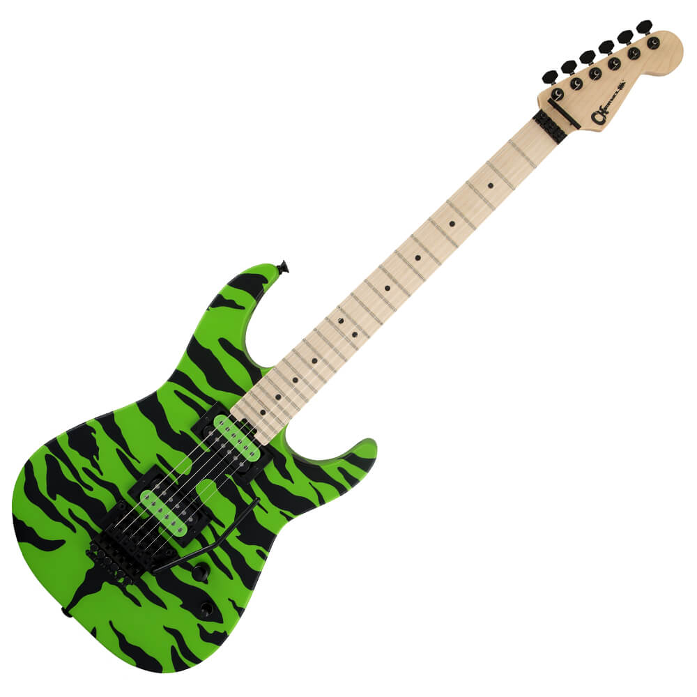 Charvel Satchel Signature Pro-Mod DK - MN - Slime Green Bengal