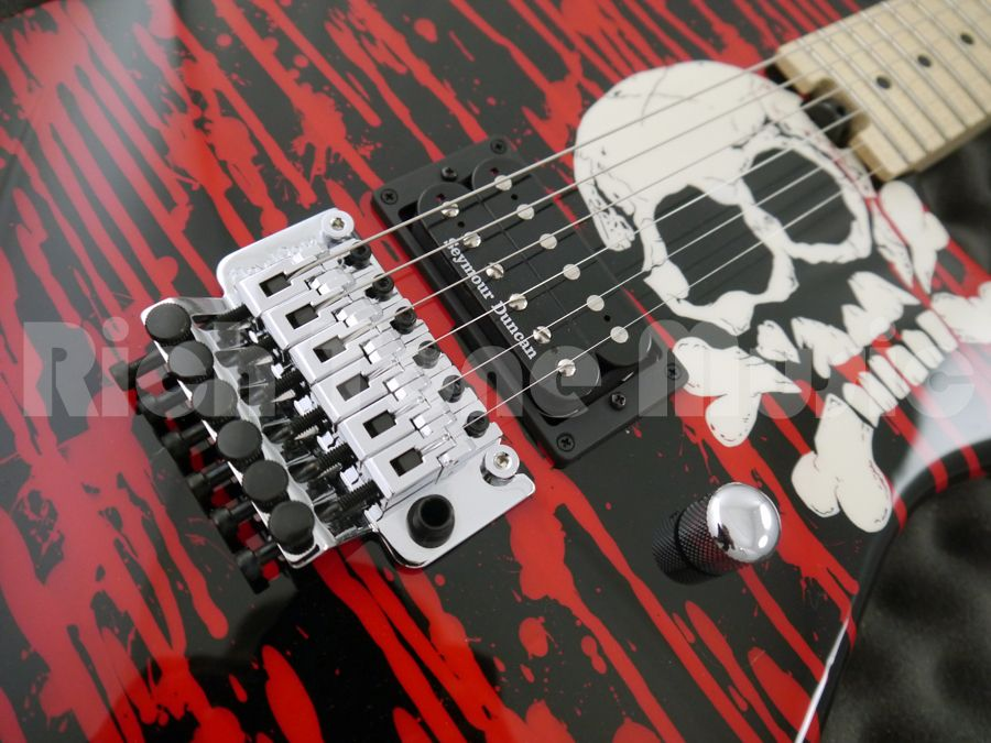 Charvel Pro Mod Sd Warren Demartini Signature Blood And Skull