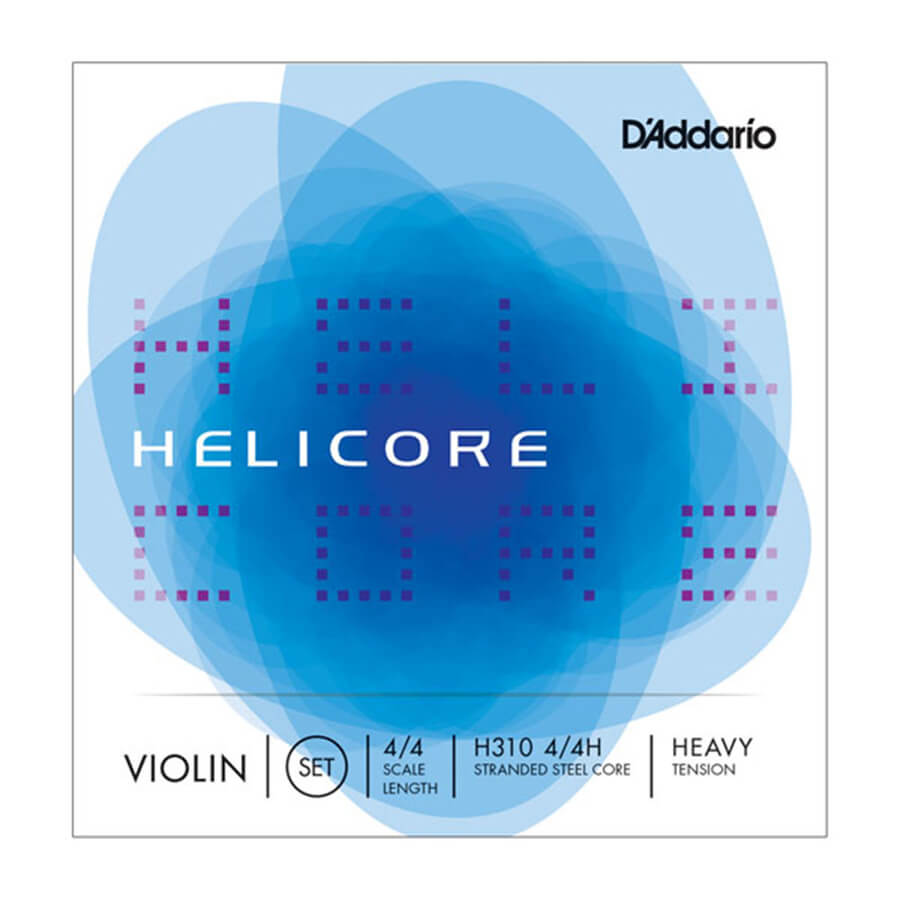 D'Addario Helicore Violin String Set, 4/4 Scale, Heavy Tension
