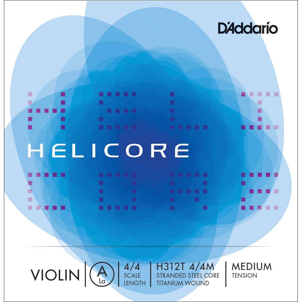D'Addario Helicore Titanium-Wound Violin A String, 4/4 Scale, Medium Tension