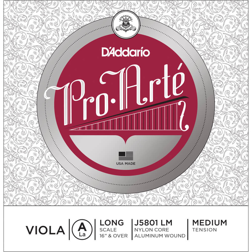 D'Addario Pro-Arte Viola Single A String, Long Scale, Medium Tension