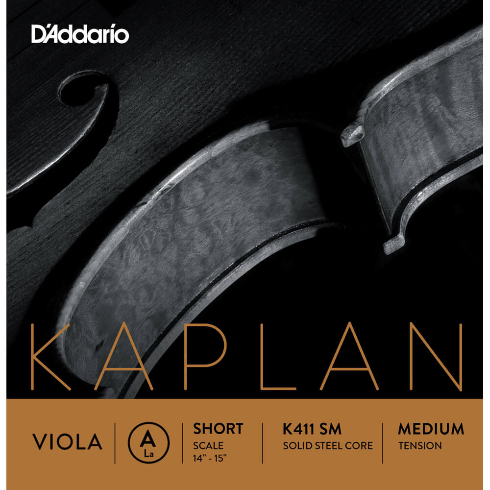 D'Addario Kaplan Viola Single A String, Short Scale, Medium Tension