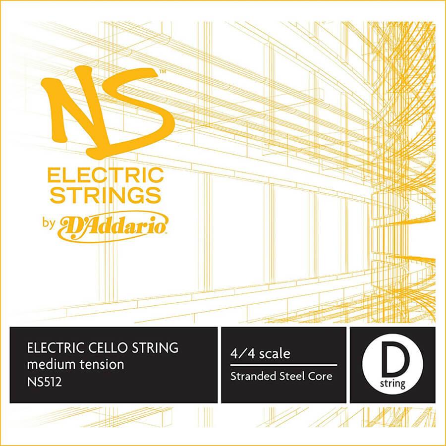 D'Addario NS Electric Cello Single D String, 4/4 Scale, Medium Tension