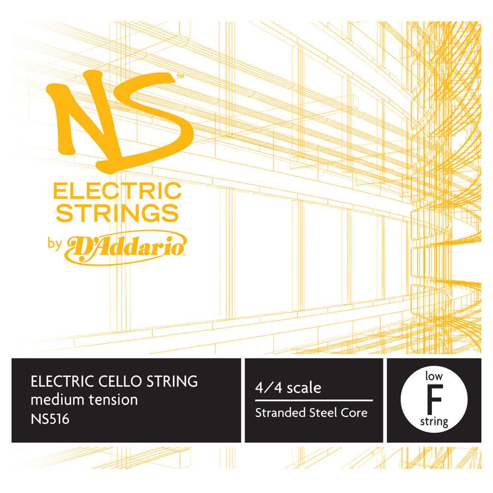 D'Addario NS Electric Cello Single Low F String, 4/4 Scale, Medium Tension