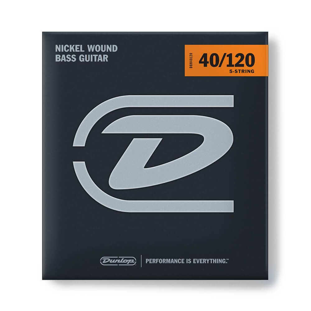 Jim Dunlop DBN40120 Bass Strings, 5-String, Nickel, Light - 40/120